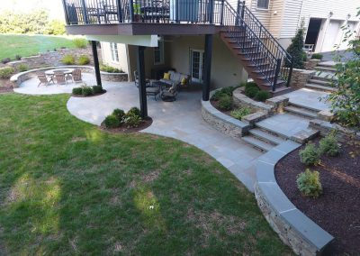 Finished landscaping project