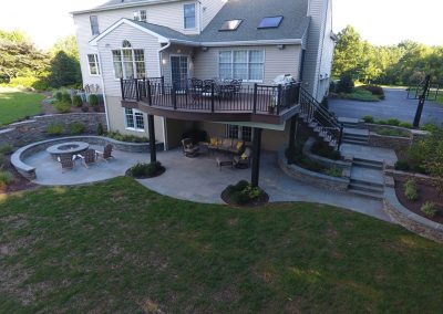 After photo of backyard landscaping project