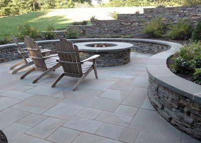 Hardscaped sitting area